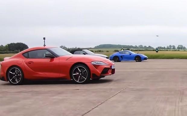 Кто кого? Toyota Supra против Porsche Cayman GTS, Audi TT RS и Alpine A110. ВИДЕО