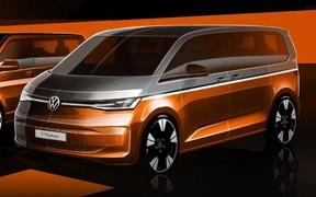 Ленивый гибрид? Volkswagen T7 Multivan снова показали на тизере