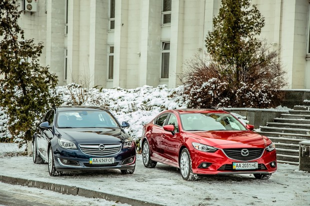 Mazda 6 и Opel Insignia