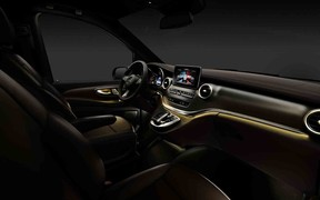 Mercedes-Benz V-Class показался изнутри