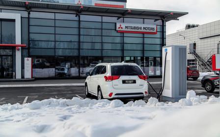 Mitsubishi развивает инфраструктуру быстрых зарядных станций в Украине