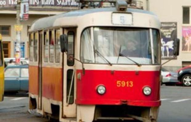 На Киевской Набережной закрыли трамвай. Будут строить развязку