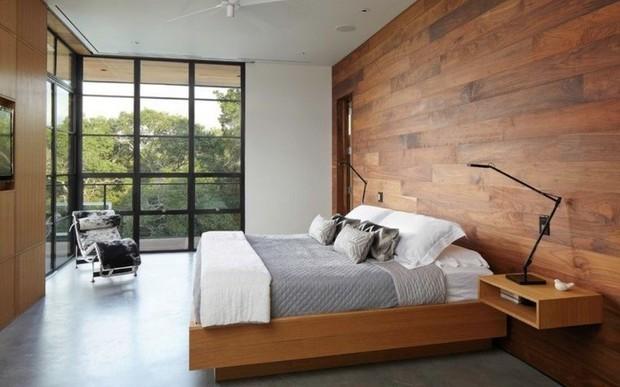 Настенные деревянные панели в интерьере