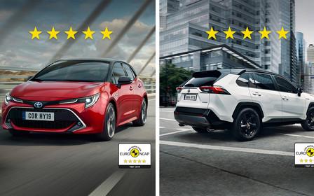 Нові Toyota Corolla та Toyota RAV4 отримали 5 зірок у рейтингу європейської організації Euro NCAP