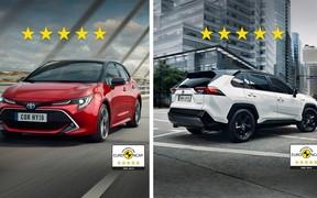 Новые Toyota Corolla и Toyota Rav4 получили 5 звезд в рейтинге европейской организации Euro NCAP