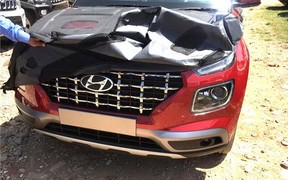 Новый кросовер Hyundai сфотографировали частично без камуфляжа