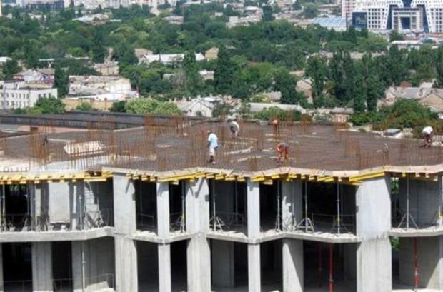 Объем строительных работ в Украине увеличился