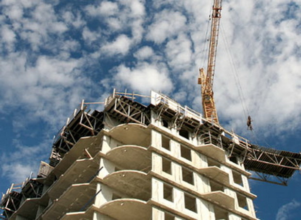 Объемы строительства в Днепропетровской области увеличились на 8%