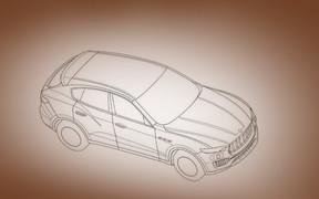 Паркетный кроссовер Maserati Levante раскрыл внешность в чертежах