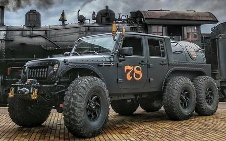 Паровозик Wrangler. Уникальный 6-колесный Jeep выставили на продажу