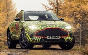 Первый кроссовер Aston Martin выкатили на тесты. Фото и видео в наличии