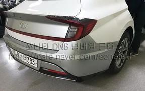 Попался! Новые фото Hyundai Sonata нового поколения