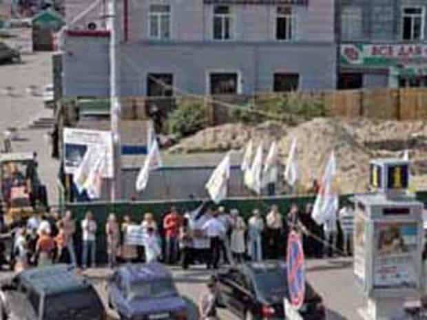 Попов не может остановить строительство  на ст. м. Театральная