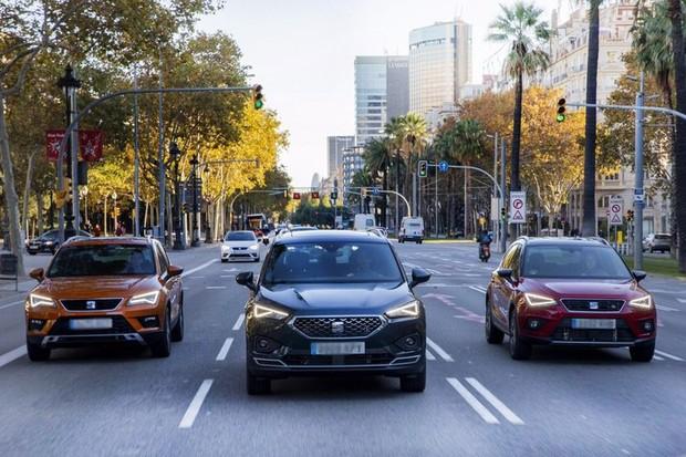 «Потрійна сила нових Seat: Ateca, Arona й Tarraco на одній дорозі»