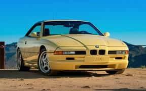 Редчайший BMW 850 CSi в цвете «желтый Дакар» продают в США
