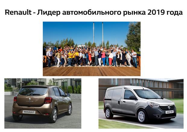 «Renault - Лидер автомобильного рынка 2019 года»