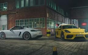Родина Porsche 718 вітає нових членів: 718 Spyder та 718 Cayman GT4.