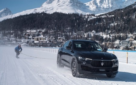 Со свистом: Maserati Levante разогнал сноубордиста до 151 км/час