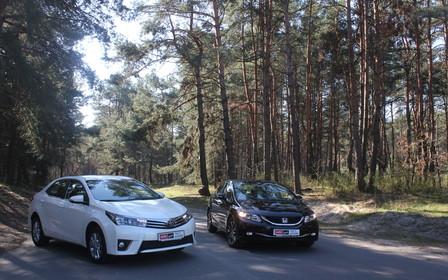 Тест-драйв Honda Civic против Toyota Corolla