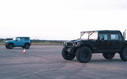 Унижать и доминировать. Suzuki Jimny сразился в скорости с Hummer H1. ВИДЕО