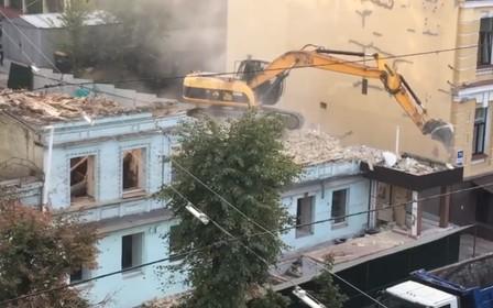 В центре Киева снесли историческое здание
