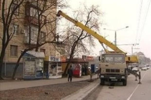 В Киеве начинается массовый демонтаж МАФов