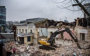 В Киеве застройщик разрушил историческое здание без разрешения Минкульта