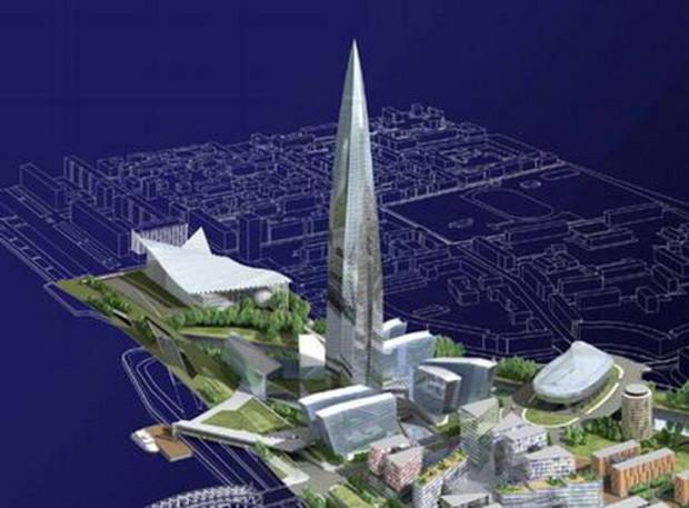 В Санкт-Петербурге широко обсуждается проект строительства «Охта-Центра»