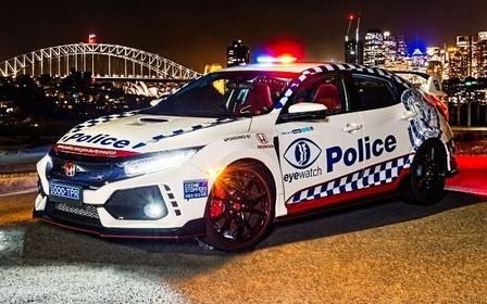 Вас догонят. Хот-хэтч Honda Civic Type R призван на службу в австралийскую полицию