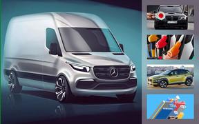 Важное за неделю: новый Sprinter, что с ценами на топливо, электромобили становятся доступнее и о штрафах «за фары»