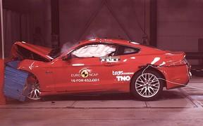 Видео: Ford Mustang пересдал краш-тест EuroNCAP на «тройку»