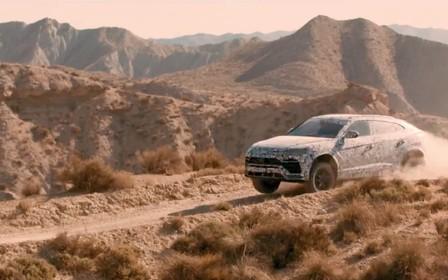 """Видео: Lamborghini Urus в режиме """"грунт"""" и """"гонка"""""""