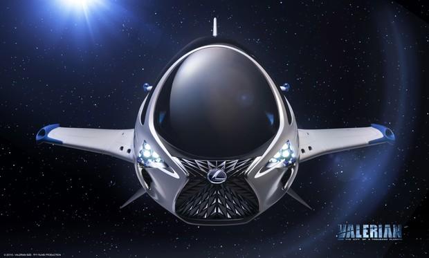Видео: Lexus создал космический корабль для нового фильма Люка Бессона