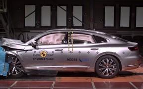 Видео: Новый Volkswagen Arteon сдал краш-тесты на «пятерку»
