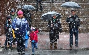 ВНИМАНИЕ: На выходных ожидается дождь с мокрым снегом