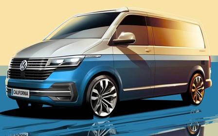 Volkswagen California розсекретили на фірмових ескізах