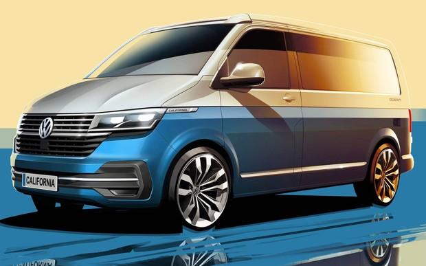 Volkswagen California рассекретили на фирменных эскизах