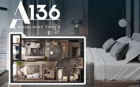 Выгода до 325 000 гривен на однокомнатные квартиры в A136 Highlight tower
