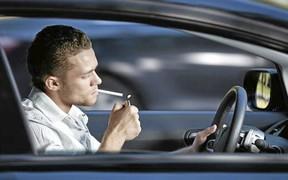 Закурил за рулем – 3500 грн. Выбросил окурок из окна - 700 грн.