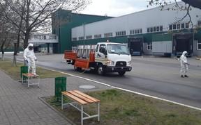 Зараза не пройдет? На заводе «Богдан» построили машину для обеззараживания улиц