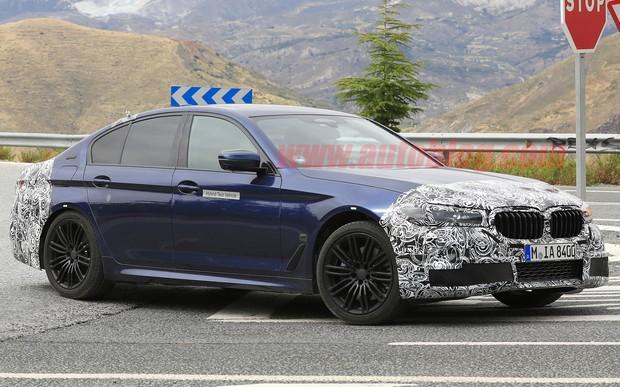 Зажали нос. Обновленный BMW 5 серии обойдется без громадных «ноздрей»