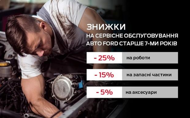 Знижки на сервісне обслуговування для авто старше 7-ми років