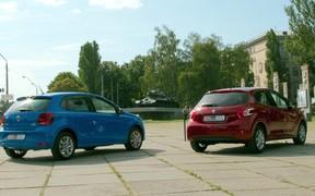 Peugeot 208 & VW Polo - rear view
