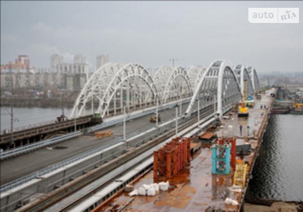 Дарницкий мостовой переход в Киеве уже работает