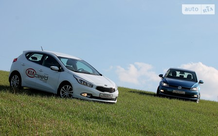 Сравнительный тест Volkswagen Golf vs KIA Cee'd: интеллигент против стиляги