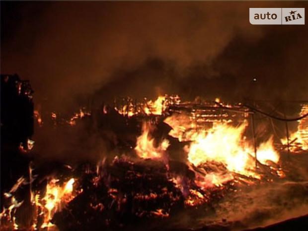 В Киеве горел склад новогодних украшений