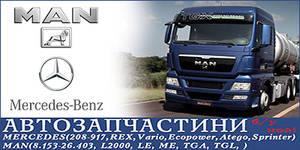 Авторазборка Авторозбірка MAN, Mercedes-Benz